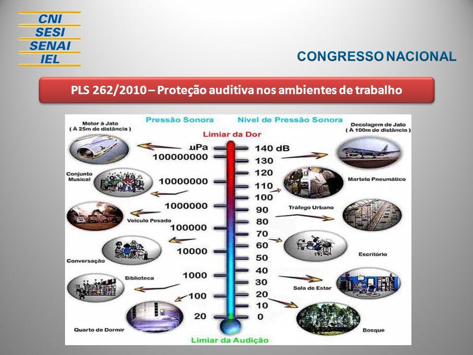 PLS 262/2010 – Proteção auditiva nos ambientes de trabalho