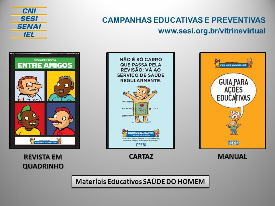 REVISTA EM QUADRINHO CARTAZMANUAL Materiais Educativos SAÚDE DO HOMEM