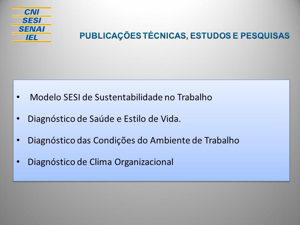 Modelo SESI de Sustentabilidade no Trabalho Diagnóstico de Saúde e Estilo de Vida. Diagnóstico das Condições do Ambiente de Trabalho Diagnóstico de Cl