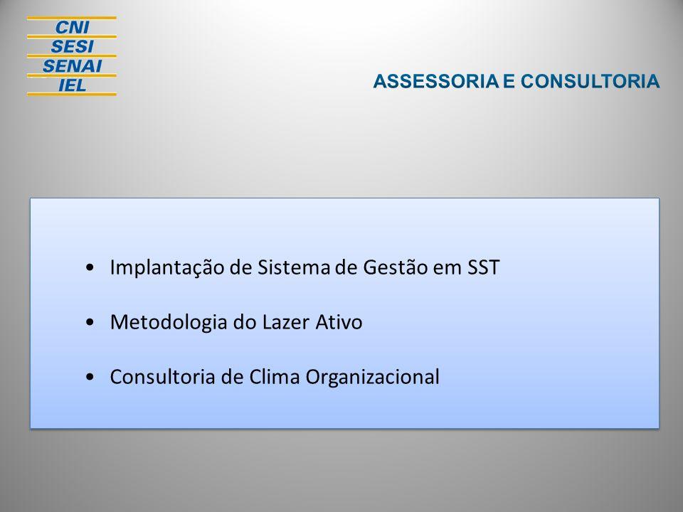 Implantação de Sistema de Gestão em SST Metodologia do Lazer Ativo Consultoria de Clima Organizacional Implantação de Sistema de Gestão em SST Metodol