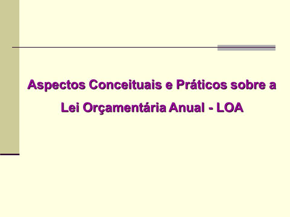 Aspectos Conceituais e Práticos sobre a Lei Orçamentária Anual - LOA
