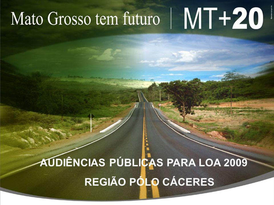 AUDIÊNCIAS PÚBLICAS PARA LOA 2009 REGIÃO PÓLO CÁCERES
