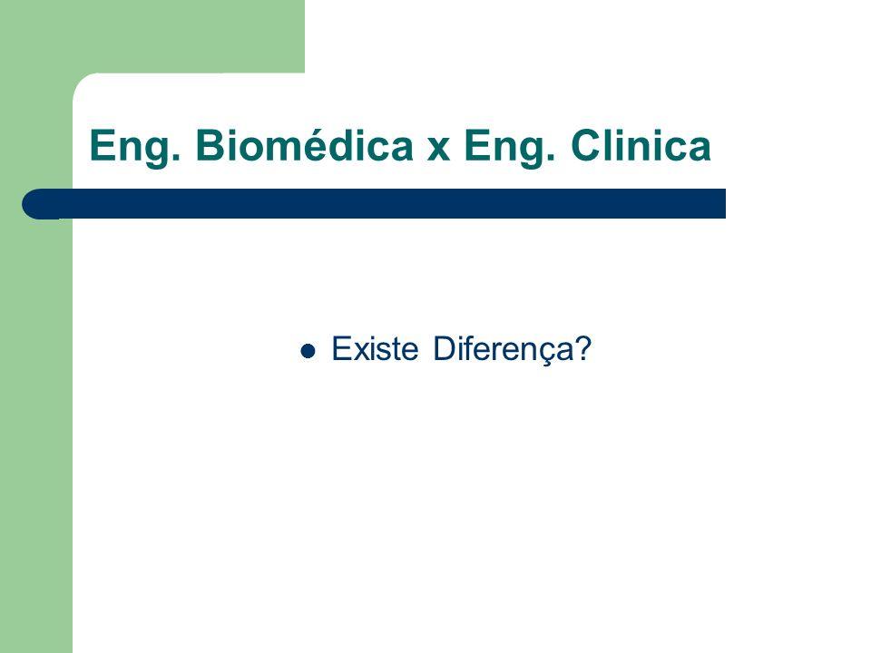 Eng. Biomédica x Eng. Clinica Existe Diferença?