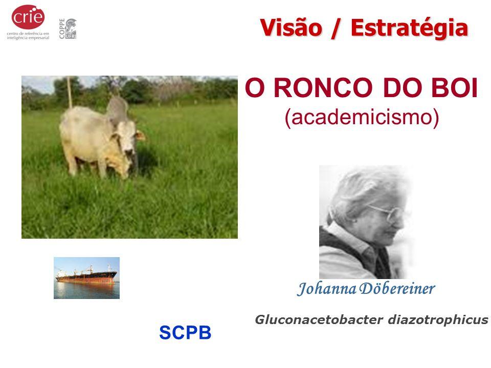 O RONCO DO BOI (academicismo) Gluconacetobacter diazotrophicus Johanna Döbereiner Visão / Estratégia SBPCSCPB