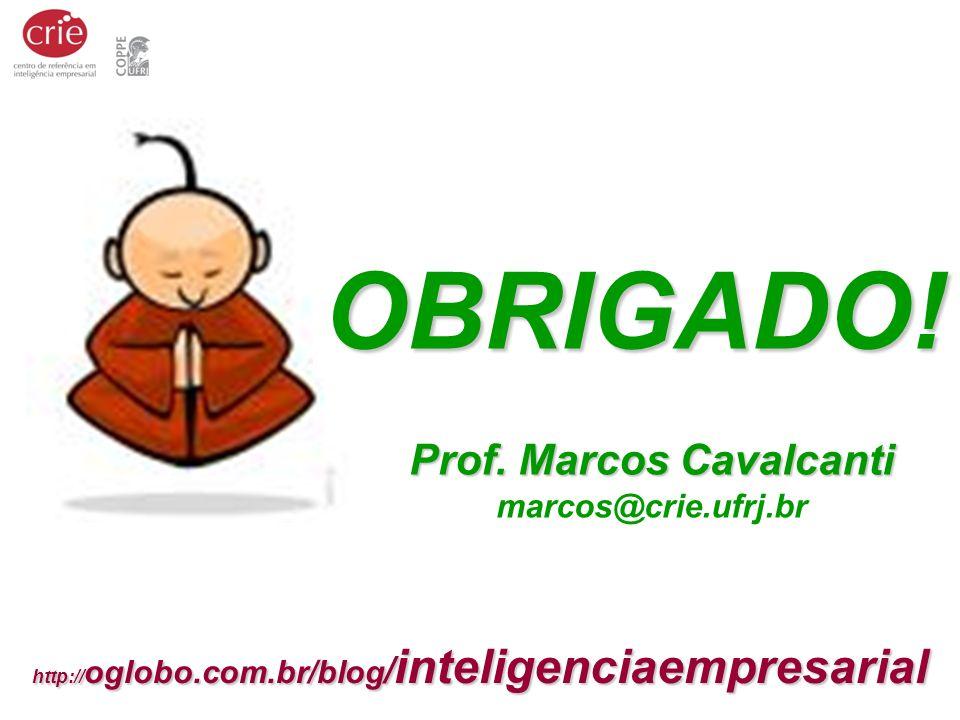 Prof. Marcos Cavalcanti Prof. Marcos Cavalcanti marcos@crie.ufrj.br http:// oglobo.com.br/blog / inteligenciaempresarial OBRIGADO!
