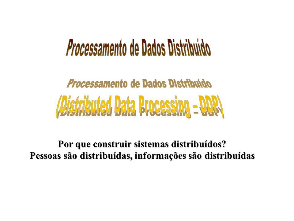Classes de Aplicações Cliente-Servidor Host-based processing Refere-se ao ambiente de mainframe tradicional em que todo ou virtualmente todo o processamento é feito num host central.