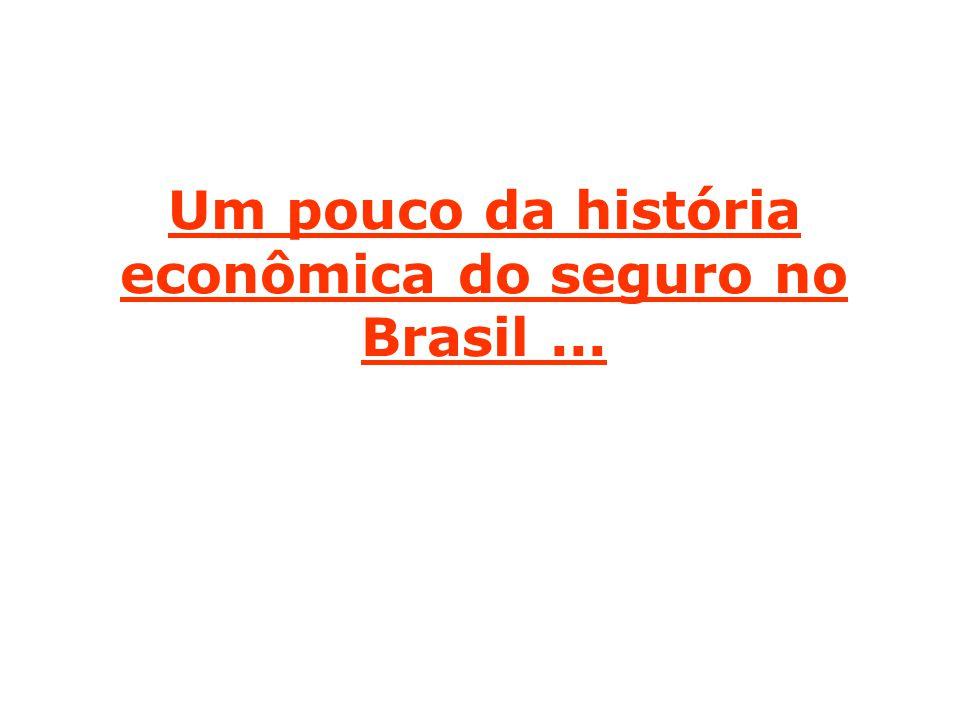 Um pouco da história econômica do seguro no Brasil...