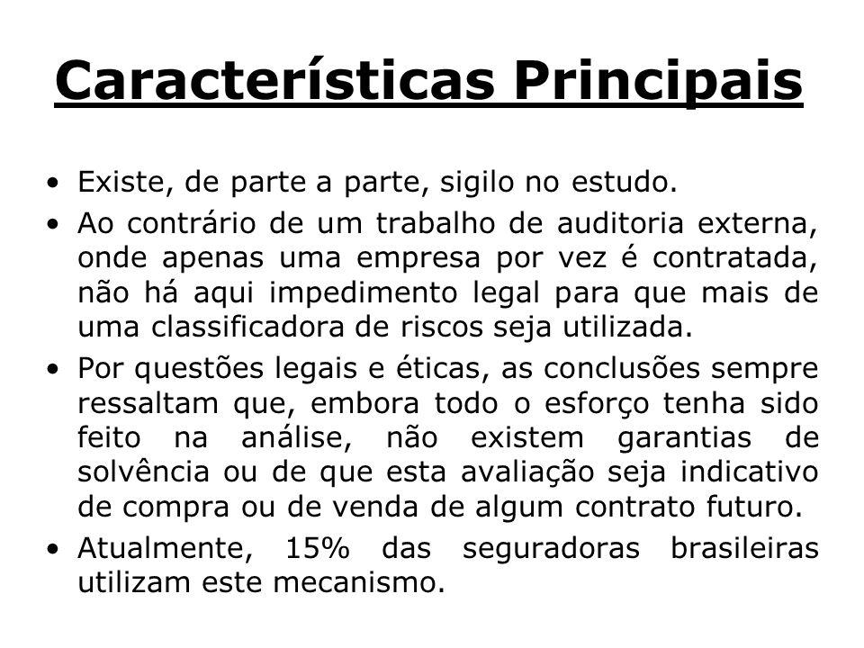 Características Principais Existe, de parte a parte, sigilo no estudo.