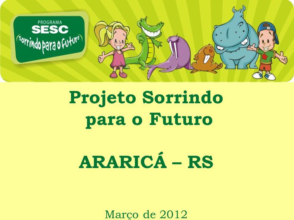 Projeto Sorrindo para o Futuro ARARICÁ – RS Março de 2012
