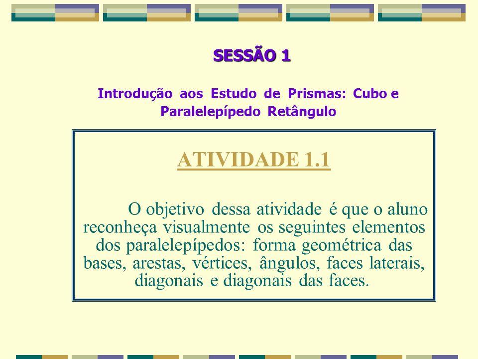 TESTE DIAGNÓSTICO– Atividade 2 Nesta atividade pretendeu-se verificar se o aluno era capaz de analisar as figuras geométricas identificando algumas de suas propriedades.