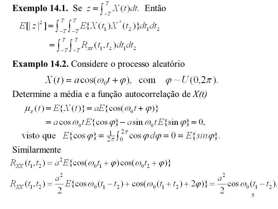 5 Similarmente Examplo 14.2.