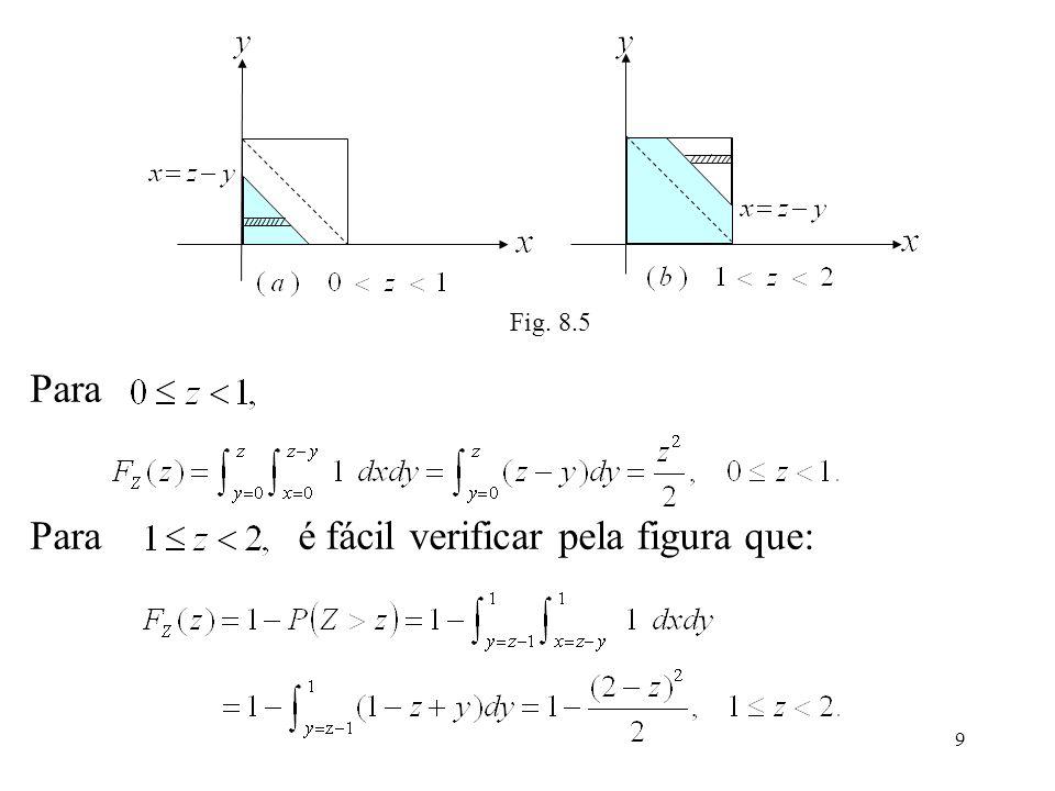 9 Fig. 8.5 Para Para é fácil verificar pela figura que: