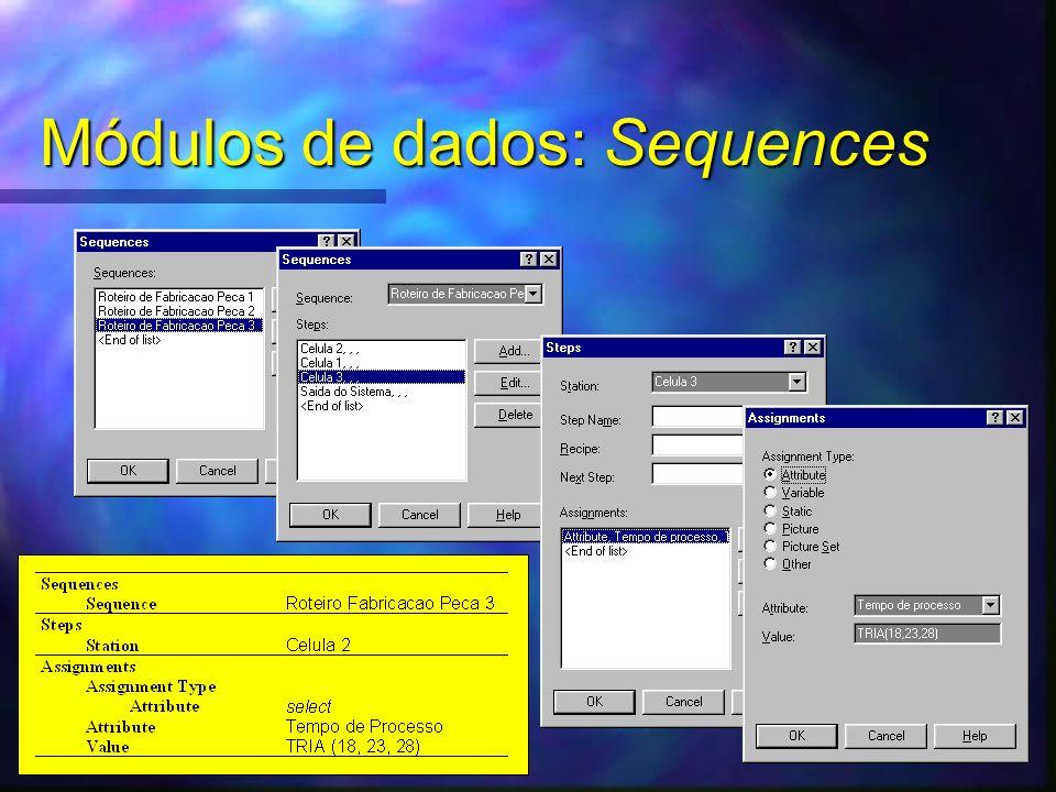 Módulos de dados: Sequences