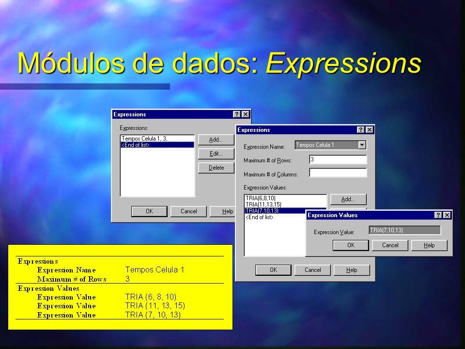 Módulos de dados: Expressions