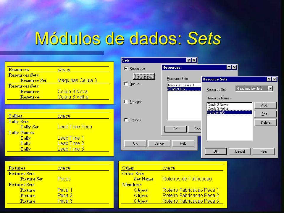 Módulos de dados: Sets