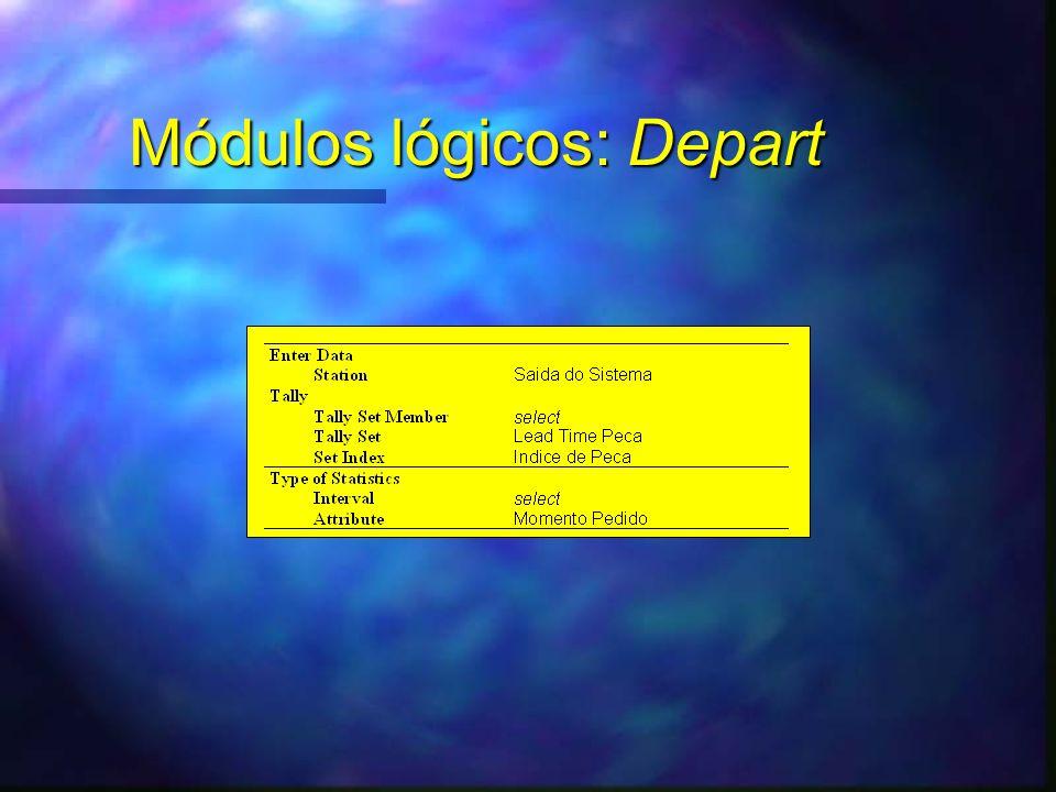 Módulos lógicos: Depart