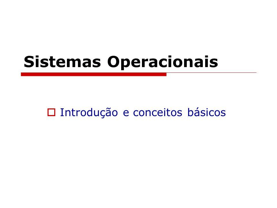 Sistemas Operacionais Introdução e conceitos básicos