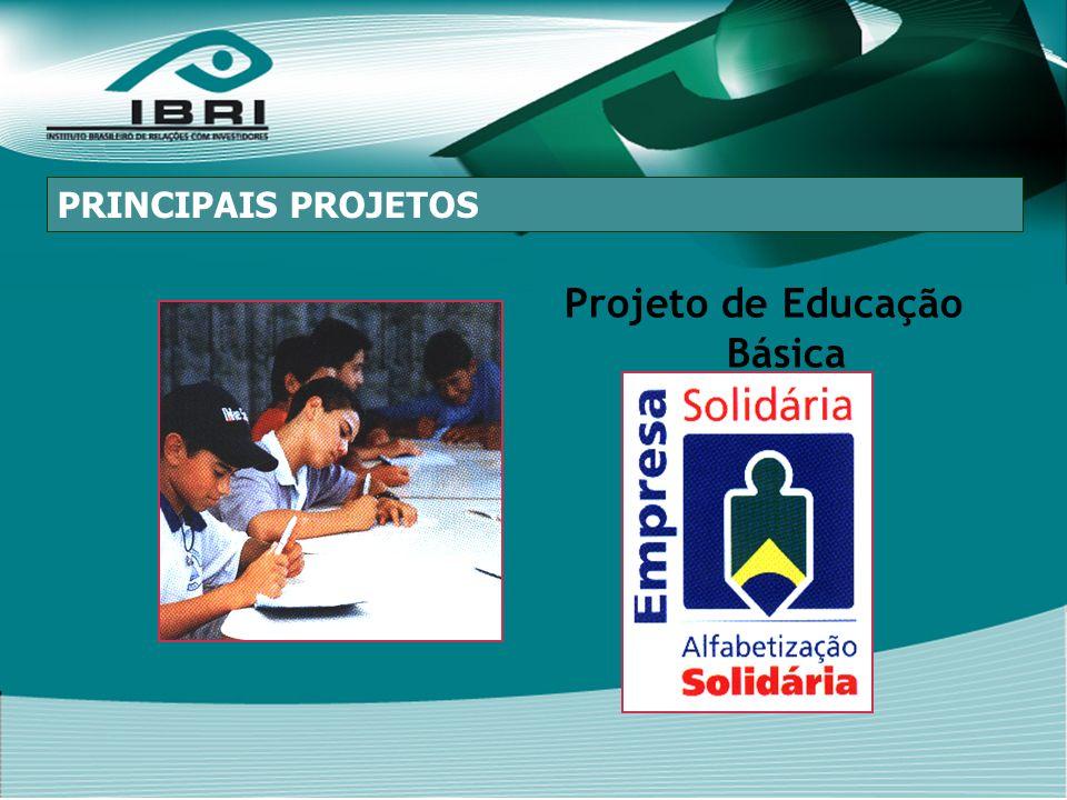 Projeto de Educação Básica PRINCIPAIS PROJETOS