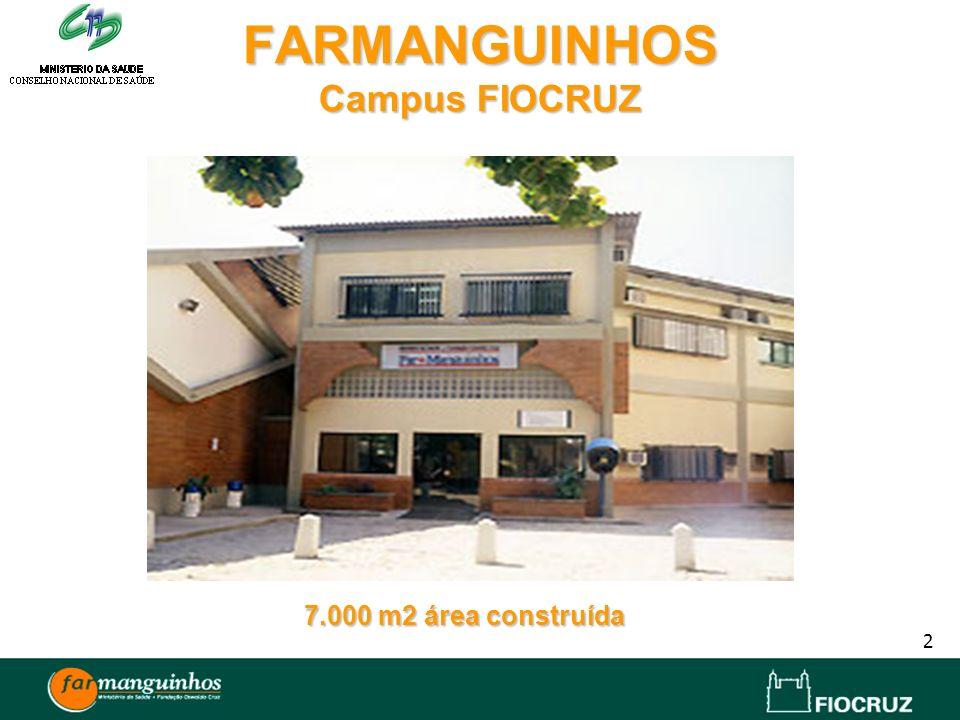 2 FARMANGUINHOS Campus FIOCRUZ 7.000 m2 área construída