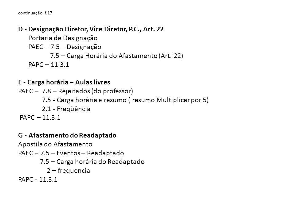 continuação f.17 D - Designação Diretor, Vice Diretor, P.C., Art.