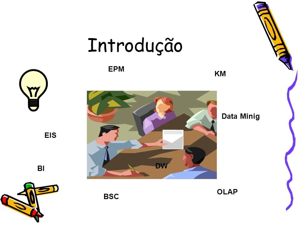 Ferramentas e Técnicas ETLETL OLAP EXTRAÇÃO, TRANSFORMAÇÃO E CARREGAMENTO FONTES DE DADOS DATA WAREHOUSE Data Mart Aplicativos Operacionais Softwares de Automação de Escritórios Dados Externos Equipamentos de Automação Data Mining EXPLORAÇÃO