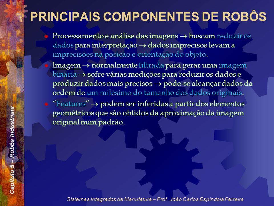 Capítulo 5 – Robôs Industriais Sistemas Integrados de Manufatura – Prof. João Carlos Espíndola Ferreira PRINCIPAIS COMPONENTES DE ROBÔS reduzir os dad