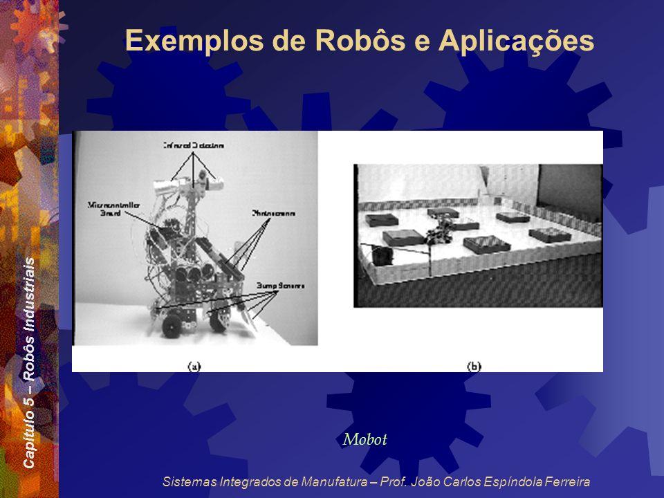 Capítulo 5 – Robôs Industriais Sistemas Integrados de Manufatura – Prof. João Carlos Espíndola Ferreira Exemplos de Robôs e Aplicações Mobot