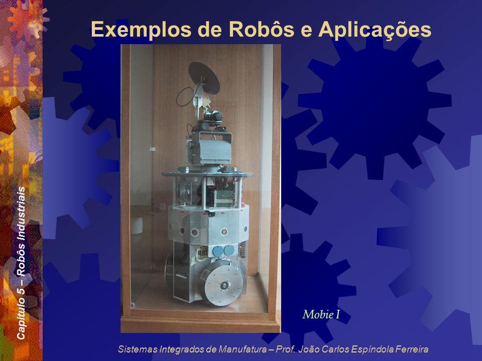 Capítulo 5 – Robôs Industriais Sistemas Integrados de Manufatura – Prof. João Carlos Espíndola Ferreira Exemplos de Robôs e Aplicações Mobie I