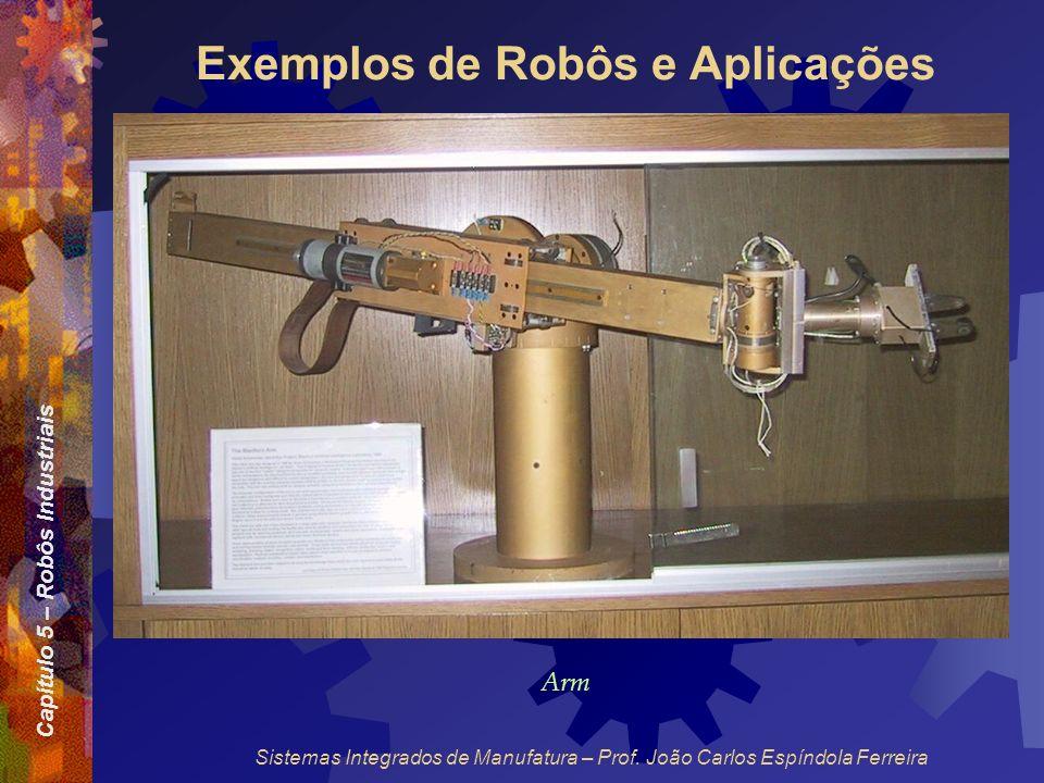 Capítulo 5 – Robôs Industriais Sistemas Integrados de Manufatura – Prof. João Carlos Espíndola Ferreira Exemplos de Robôs e Aplicações Arm