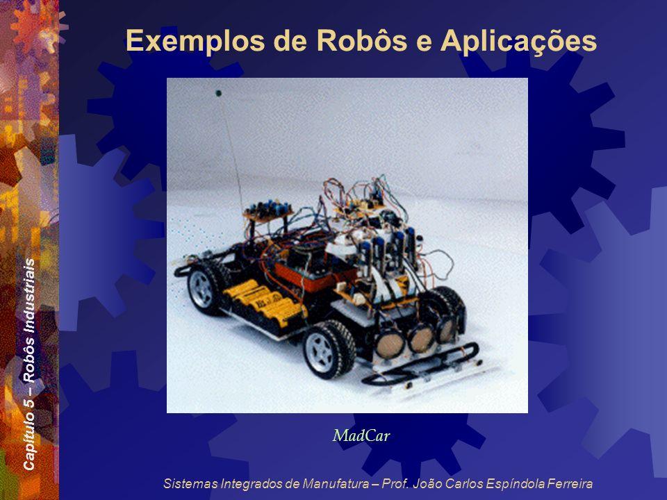 Capítulo 5 – Robôs Industriais Sistemas Integrados de Manufatura – Prof. João Carlos Espíndola Ferreira Exemplos de Robôs e Aplicações MadCar