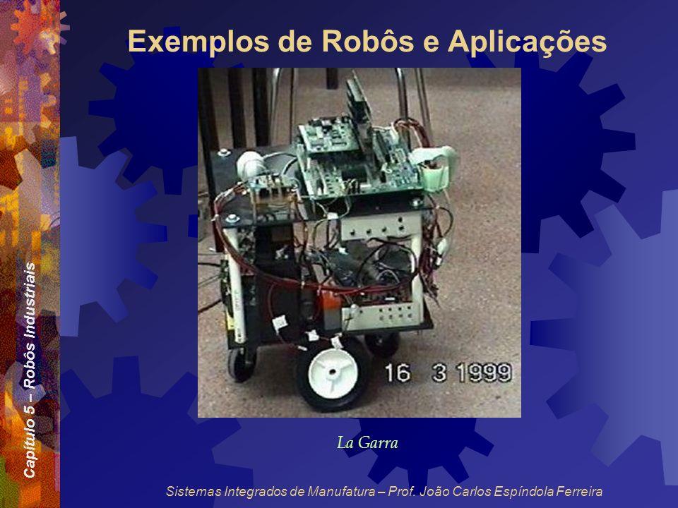 Capítulo 5 – Robôs Industriais Sistemas Integrados de Manufatura – Prof. João Carlos Espíndola Ferreira Exemplos de Robôs e Aplicações La Garra