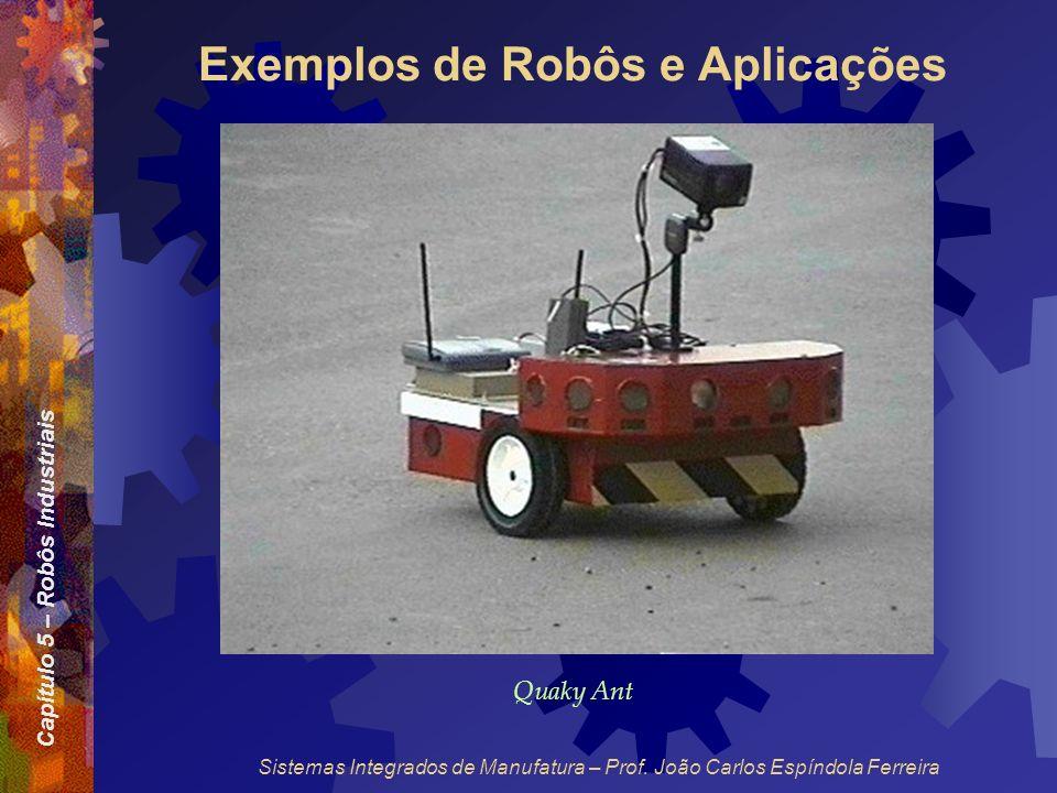 Capítulo 5 – Robôs Industriais Sistemas Integrados de Manufatura – Prof. João Carlos Espíndola Ferreira Exemplos de Robôs e Aplicações Quaky Ant