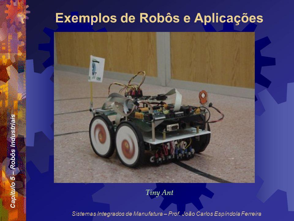 Capítulo 5 – Robôs Industriais Sistemas Integrados de Manufatura – Prof. João Carlos Espíndola Ferreira Exemplos de Robôs e Aplicações Tiny Ant