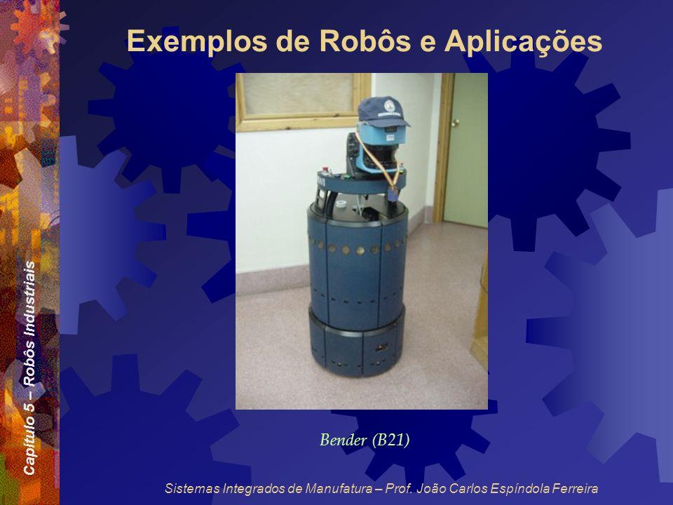 Capítulo 5 – Robôs Industriais Sistemas Integrados de Manufatura – Prof. João Carlos Espíndola Ferreira Exemplos de Robôs e Aplicações Bender (B21)