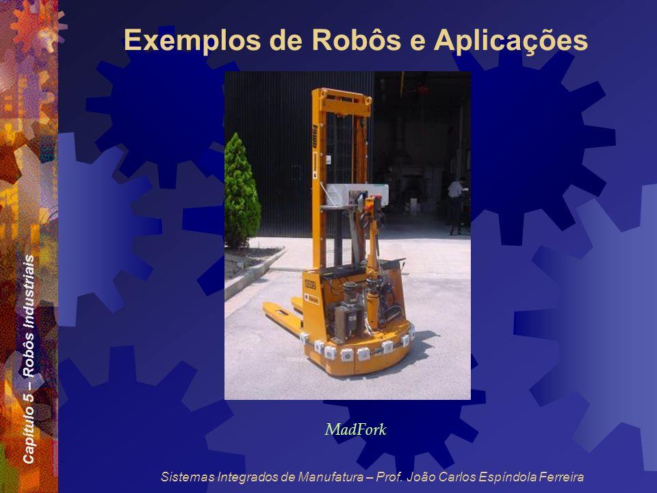 Capítulo 5 – Robôs Industriais Sistemas Integrados de Manufatura – Prof. João Carlos Espíndola Ferreira Exemplos de Robôs e Aplicações MadFork