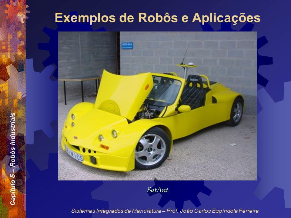 Capítulo 5 – Robôs Industriais Sistemas Integrados de Manufatura – Prof. João Carlos Espíndola Ferreira Exemplos de Robôs e Aplicações SatAnt