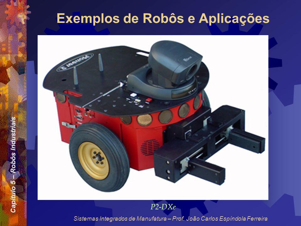 Capítulo 5 – Robôs Industriais Sistemas Integrados de Manufatura – Prof. João Carlos Espíndola Ferreira Exemplos de Robôs e Aplicações P2-DXe
