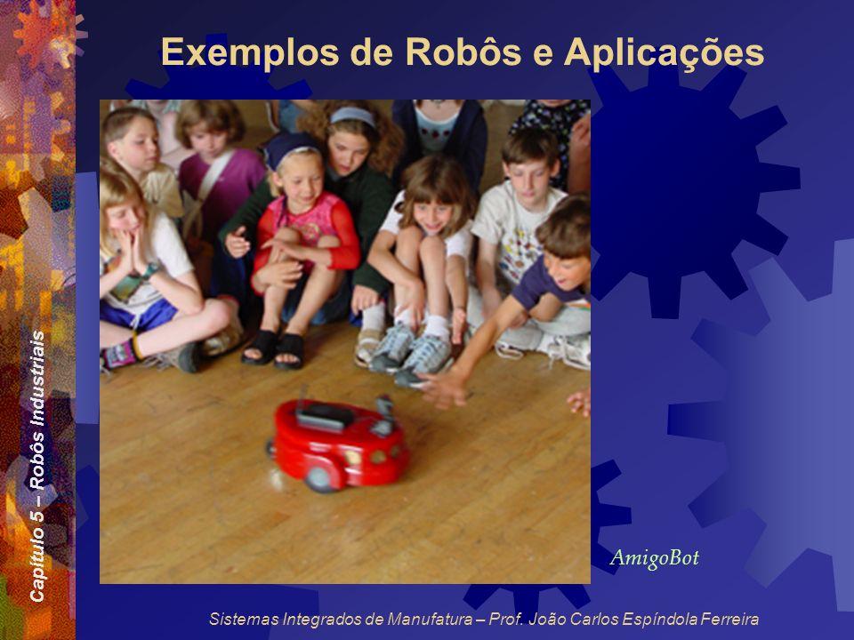 Capítulo 5 – Robôs Industriais Sistemas Integrados de Manufatura – Prof. João Carlos Espíndola Ferreira Exemplos de Robôs e Aplicações AmigoBot