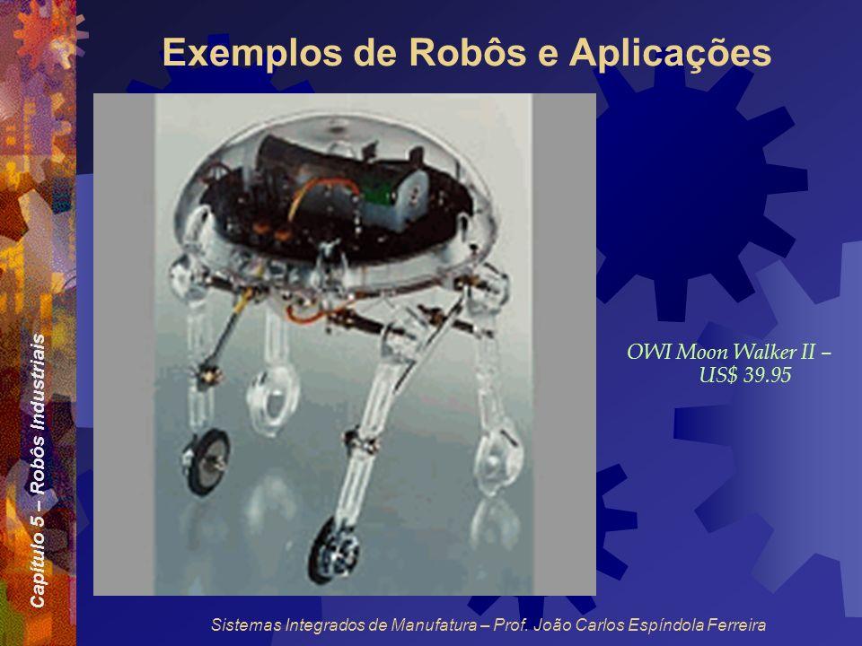 Capítulo 5 – Robôs Industriais Sistemas Integrados de Manufatura – Prof. João Carlos Espíndola Ferreira Exemplos de Robôs e Aplicações OWI Moon Walker