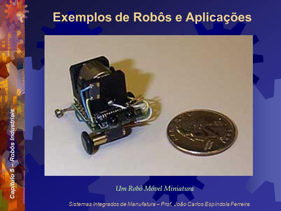 Capítulo 5 – Robôs Industriais Sistemas Integrados de Manufatura – Prof. João Carlos Espíndola Ferreira Exemplos de Robôs e Aplicações Um Robô Móvel M