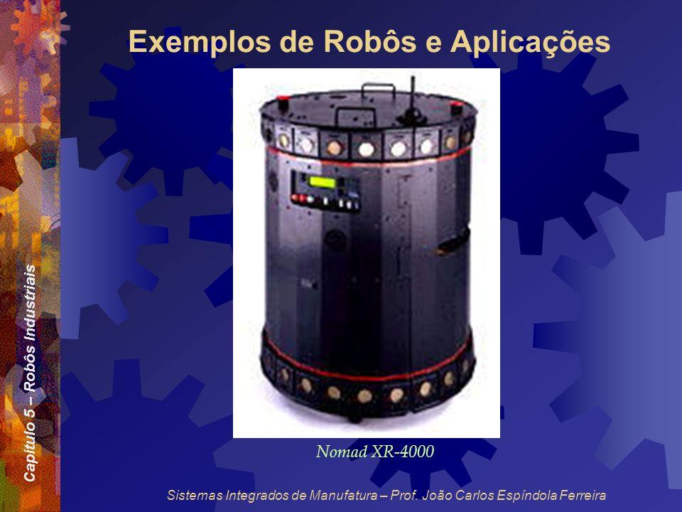Capítulo 5 – Robôs Industriais Sistemas Integrados de Manufatura – Prof. João Carlos Espíndola Ferreira Exemplos de Robôs e Aplicações Nomad XR-4000