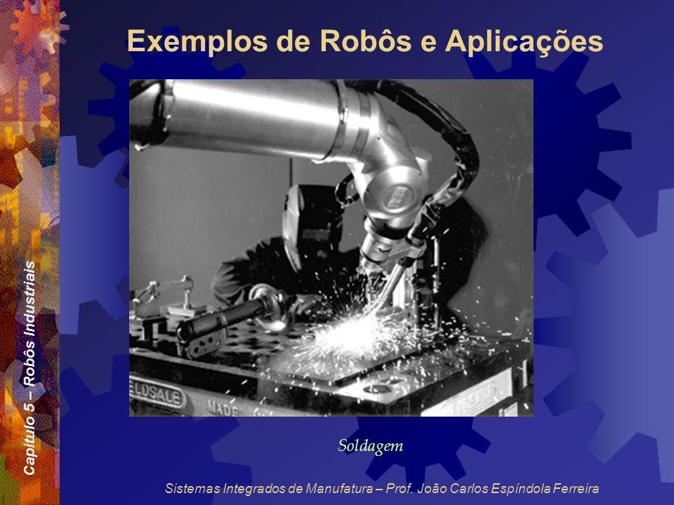 Capítulo 5 – Robôs Industriais Sistemas Integrados de Manufatura – Prof. João Carlos Espíndola Ferreira Exemplos de Robôs e Aplicações Soldagem