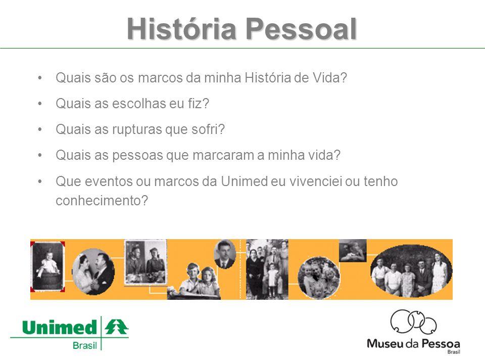 História Pessoal Quais são os marcos da minha História de Vida.