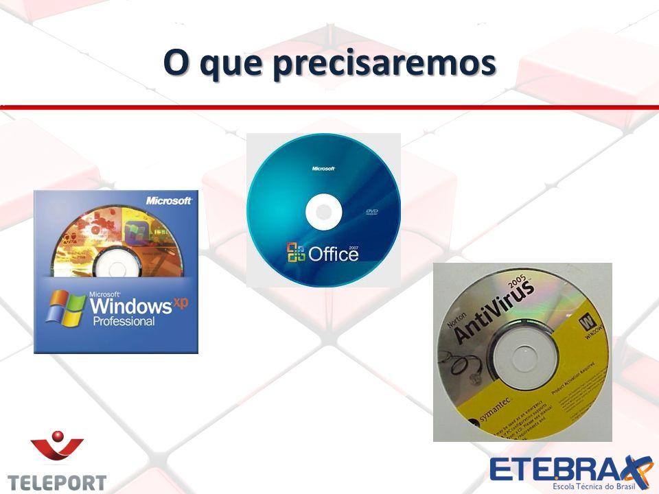 BOOT pelo (CD) Instalando um sistema operacional Instalando um sistema operacional