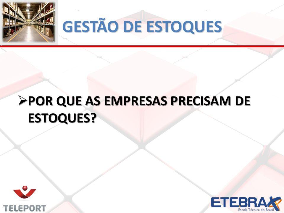 GESTÃO DE ESTOQUES Segundo Closs (2007, pg.
