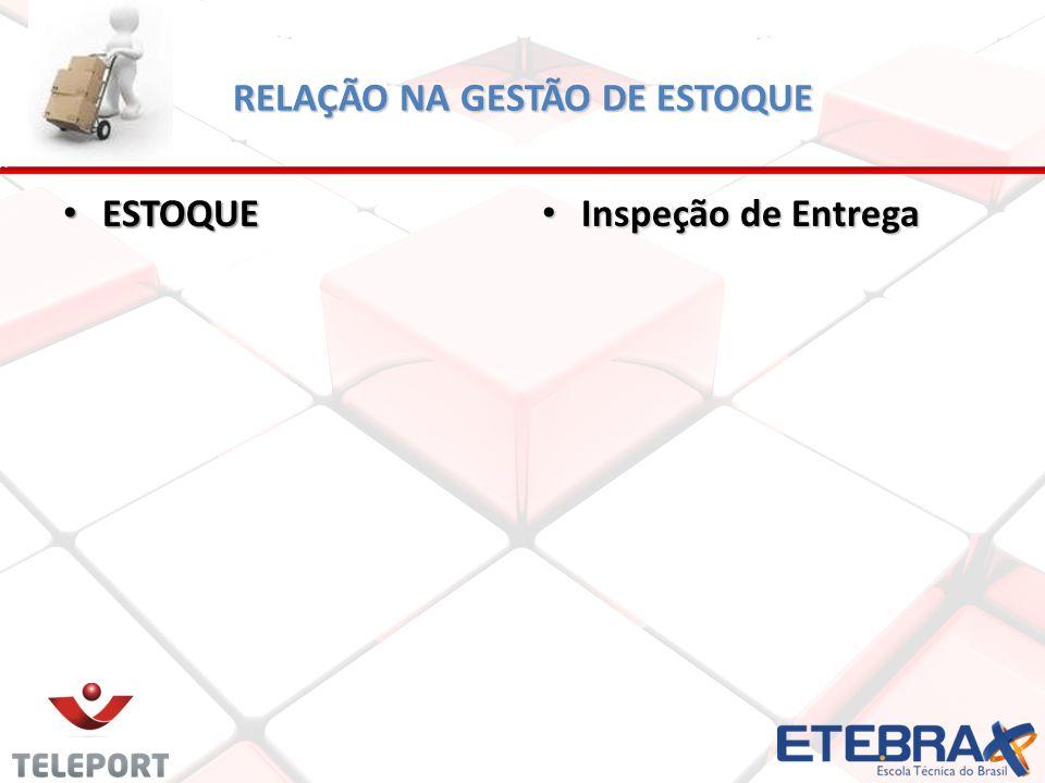 RELAÇÃO NA GESTÃO DE ESTOQUE ESTOQUE ESTOQUE Inspeção de Entrega Inspeção de Entrega