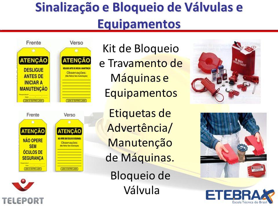 Sinalização e Bloqueio de Válvulas e Equipamentos Bloqueio de Válvula Kit de Bloqueio e Travamento de Máquinas e Equipamentos Etiquetas de Advertência