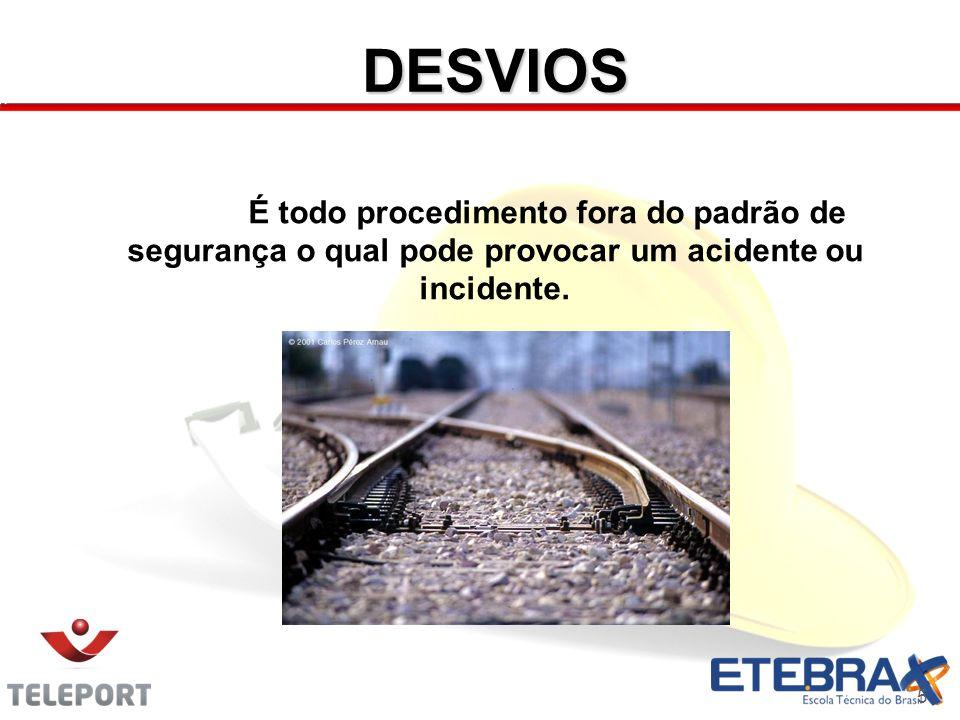 DESVIOS 5 É todo procedimento fora do padrão de segurança o qual pode provocar um acidente ou incidente.