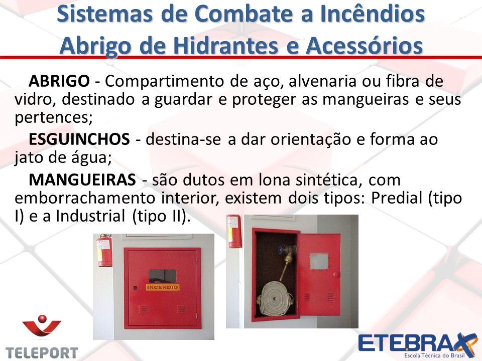 Sistemas de Combate a Incêndios Casa de Bombas CANALIZAÇÃO CANALIZAÇÃO - É o conjunto de tubos necessários a adução da água recalcada pelas bombas até
