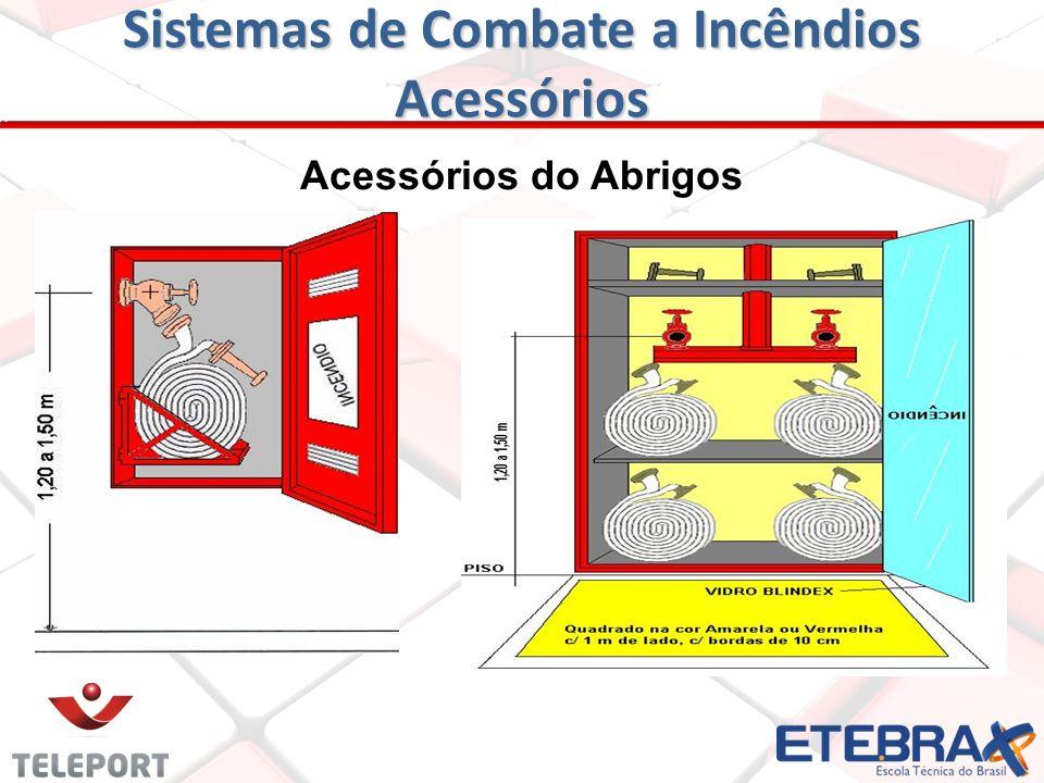 Sistemas de Combate a Incêndios Abrigo de Hidrantes e Acessórios ABRIGO - Compartimento de aço, alvenaria ou fibra de vidro, destinado a guardar e pro